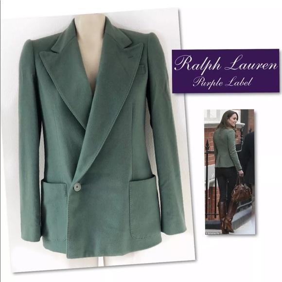 Ralph Lauren Jackets & Blazers - Ralph Lauren  Purple label Cashmere Blazer SZ 2